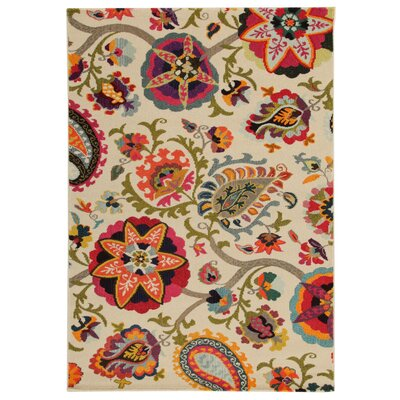 House Additions Nevers White Area Rug