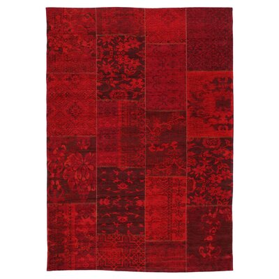 House Additions Rosmore Velour Red Area Rug