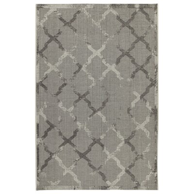 House Additions Auxerre Grey Indoor/Outdoor Area Rug