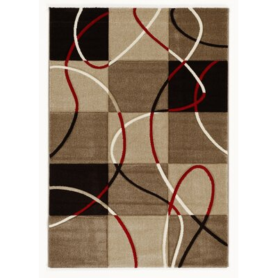 House Additions Beige/Red Area Rug