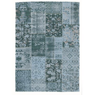 House Additions Rosmore Velour Grey/Blue Area Rug