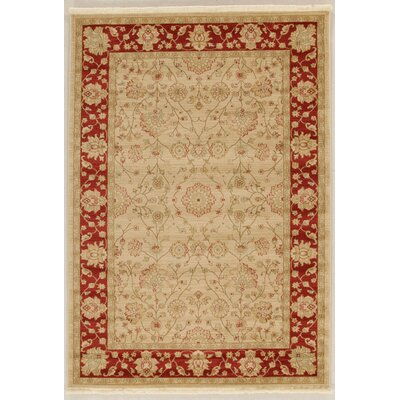 House Additions Tr Lievin Beige/Red Area Rug