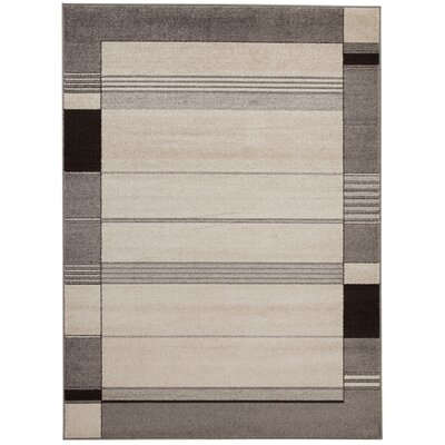 House Additions Raphael Brown/Black Area Rug