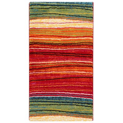 House Additions Istres Red/Green Area Rug