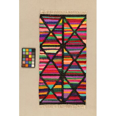 House Additions Arles Hand-Woven Black Area Rug