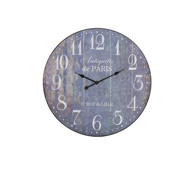 House Additions Oversized 80cm Kitinen Wood Clock