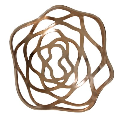 House Additions Volpe 41cm Fruit Bowl in Rose Gold