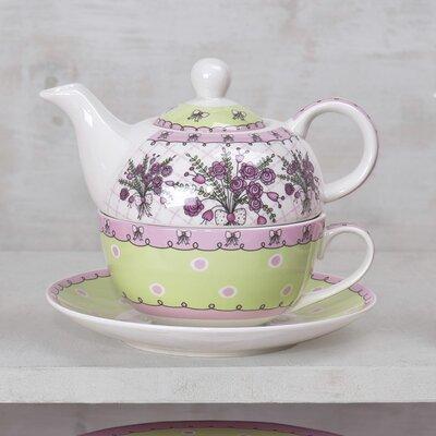 House Additions Green Bouquet Tea Set
