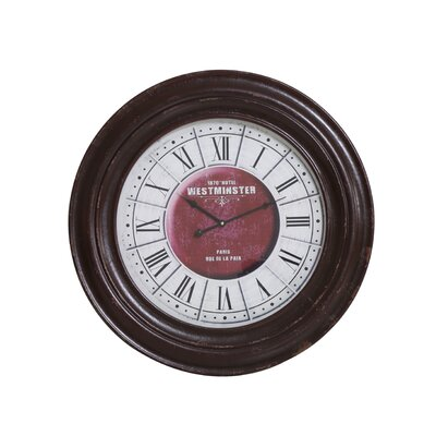 House Additions Oversized 70cm Angrapa Wood Wall Clock