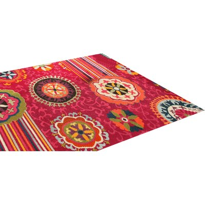 House Additions Nevers Fuchsia Area Rug