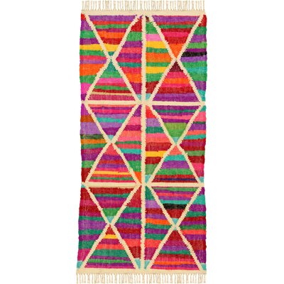 House Additions Arles Hand-Woven Multi-Coloured Area Rug