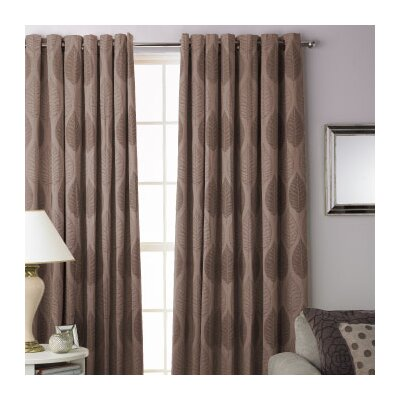 House Additions Dalby Lined Ring Top Curtain Single Panel