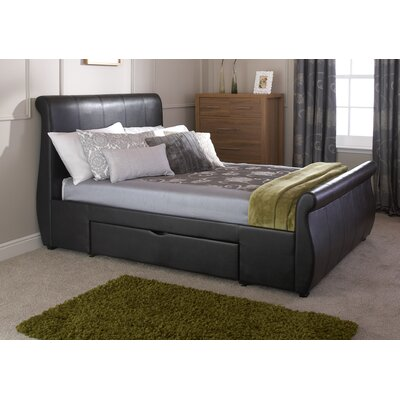 House Additions Beveridge Upholstered Storage Sleigh Bed