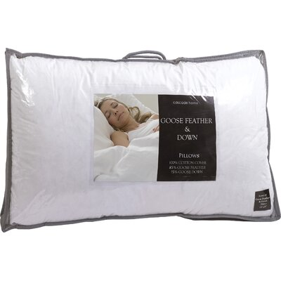 House Additions Genuine Goose Feather and Down Pillow