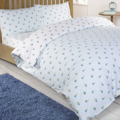 House Additions Scattered Floral Brushed Cotton Fitted Sheet