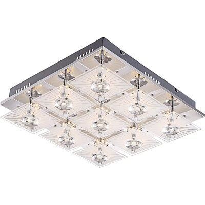 House Additions Santi 9 Light Flush Ceiling Light