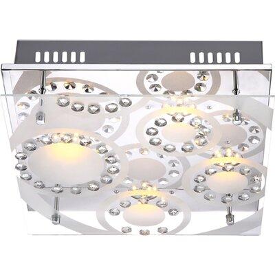 House Additions Tisoy 4 Light Flush Ceiling Light