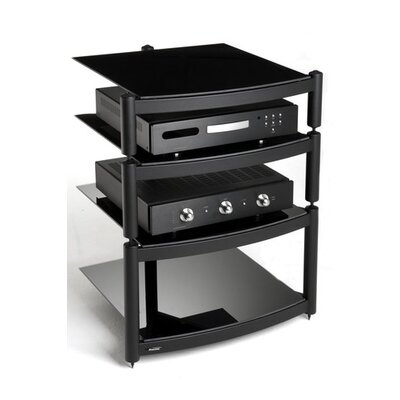 House Additions Coombe Hi Fi Celebration LE Rack with Shelves in Gloss Black