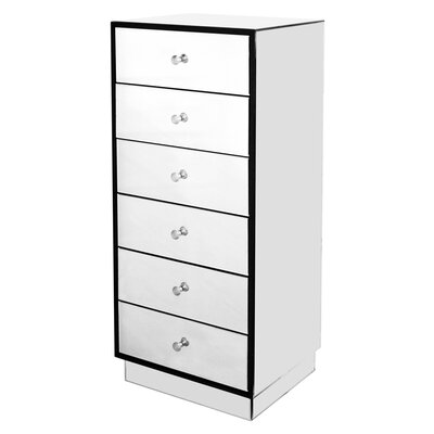 House Additions Piana Mirror 6 Drawer Chest of Drawers