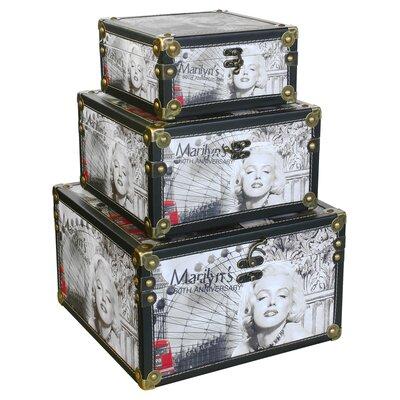 House Additions 3 Piece Marilyn Monroe Scene Storage Box Set