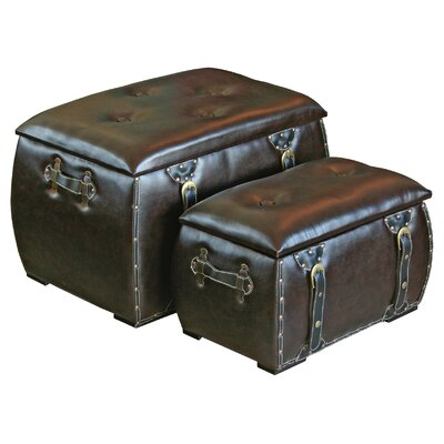 House Additions 2 Piece Storage Trunk Set