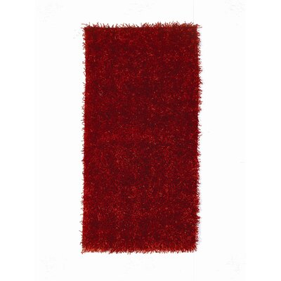 House Additions Arola Red Area Rug