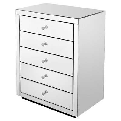 House Additions Piana Mirror 5 Drawer Chest of Drawers