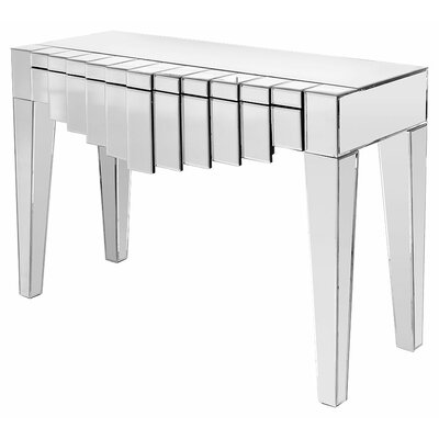 House Additions Piana Mirrored Manhatten Console Table