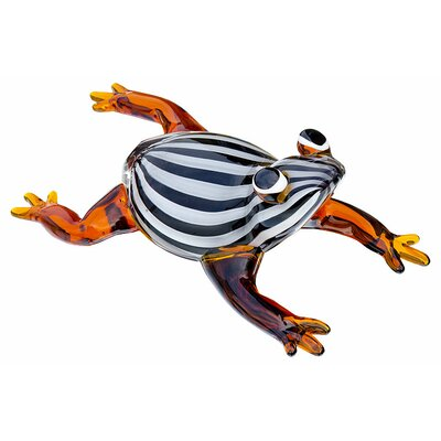 House Additions Striped Frog Figurine