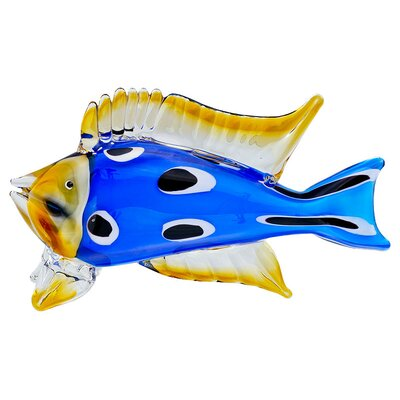 House Additions Tropical Fish with Spots Figurine