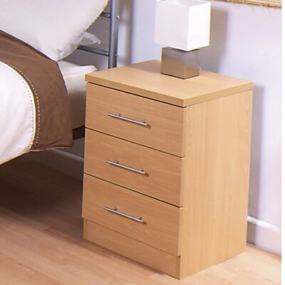 House Additions Kingston 3 Drawer Bedside Table