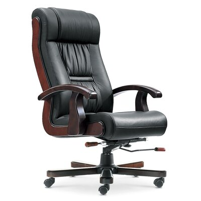 Home & Haus High-Back Leather Executive Chair