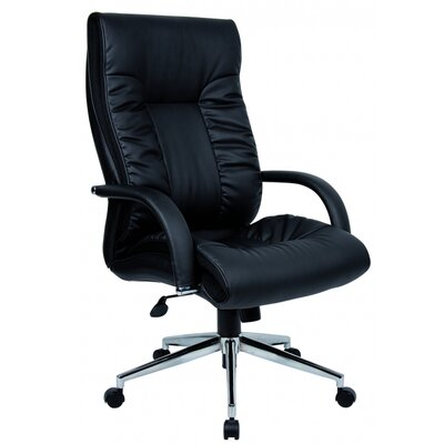 Home & Haus Derby High-Back Leather Executive Chair