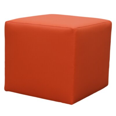 Home & Haus Grierson Cubic Upholstered Faux Leather Decorative Stool