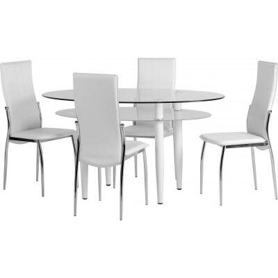 Home & Haus Harebell Dining Table and 4 Chairs