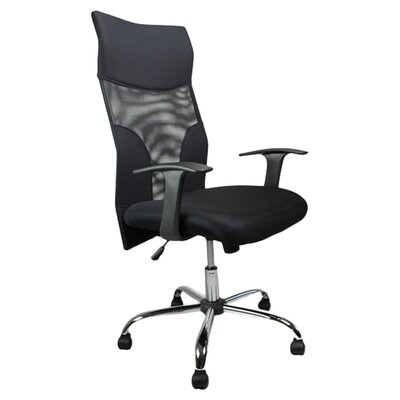 Home & Haus Managers High-Back Mesh Executive Chair with Lumbar Support