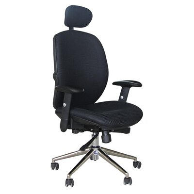Home & Haus High-Back Executive Chair with Adjustable Arm