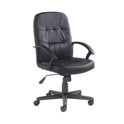Home & Haus Cavalier Mid-Back Leather Desk Chair