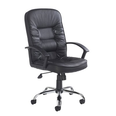 Home & Haus Hertford High-Back Leather Executive Chair