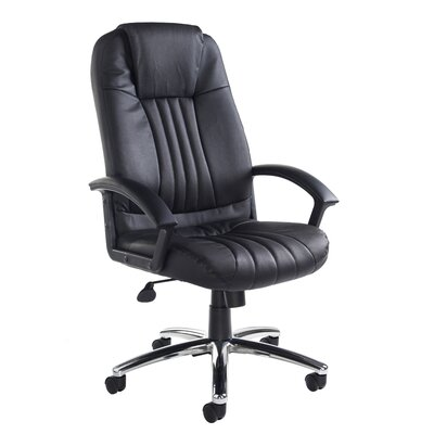 Home & Haus Monaco High-Back Leather Executive Chair