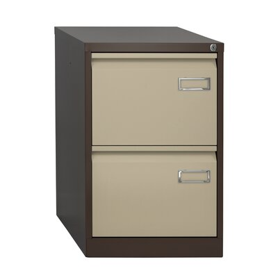 Home & Haus Bisley 2-Drawer Vertical Filing Cabinet