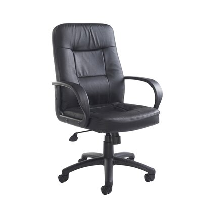 Home & Haus Hampshire Mid-Back Leather Desk Chair