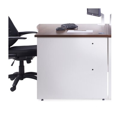 Home & Haus Duo Desk Shell with Cable Management