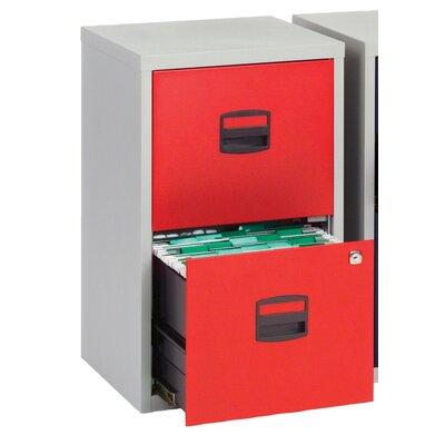 Home & Haus Bisley 2-Drawer Vertical Filing Cabinet