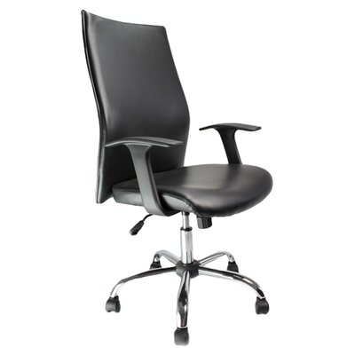 Home & Haus Shirttail High-Back Executive Chair with Lumbar Support