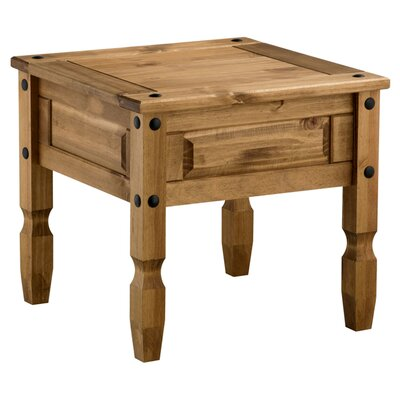 Home & Haus Traditional Corona Side Table in Pine