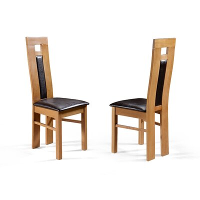 Home & Haus StromboliSolid Oak Upholstered Dining Chair