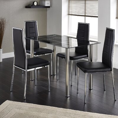 Home & Haus Roatan Dining Table and 4 Chairs