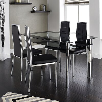 Home & Haus Ingham Dining Table and 4 Chairs