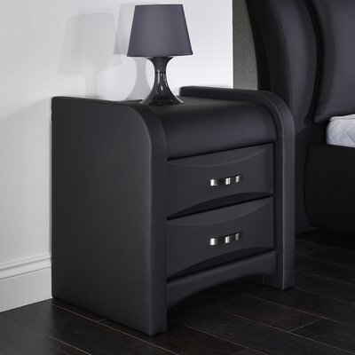 Home & Haus Buchan 2 Drawer Bedside Table